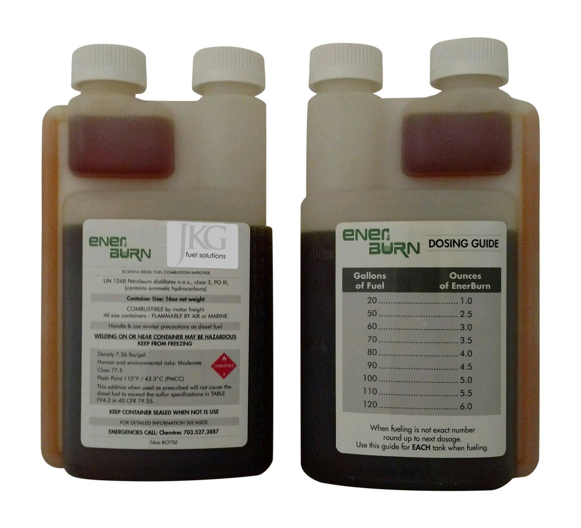 Enerburn - Liquid Diesel Fuel Combustion Catalyst & DPF Cleaner, 16-ounce bottles, 2-pack
