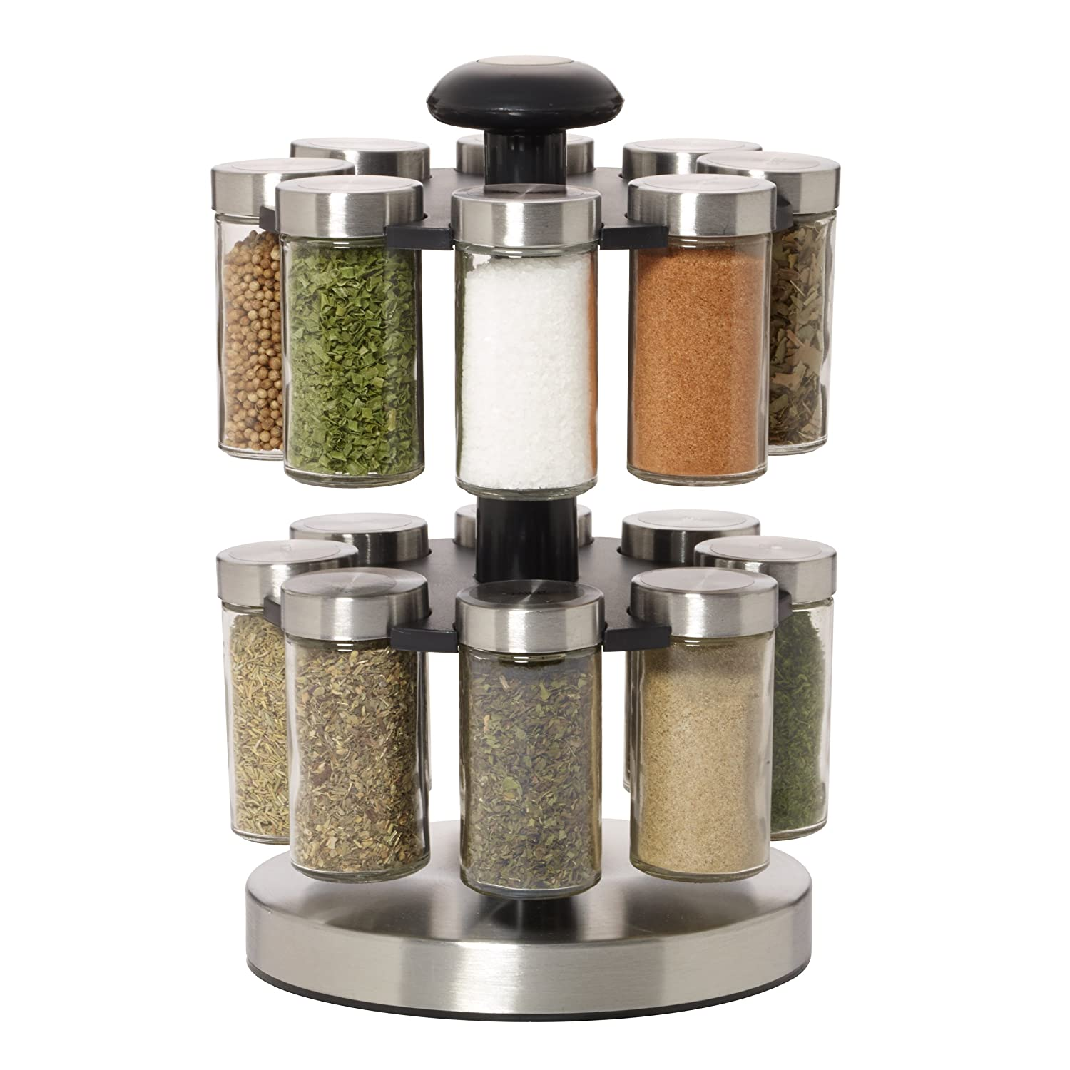 Beau Amazon.com: Kamenstein Lexington 16 Jar Revolving Spice Rack With Free Spice  Refills For 5 Years: Kitchen U0026 Dining