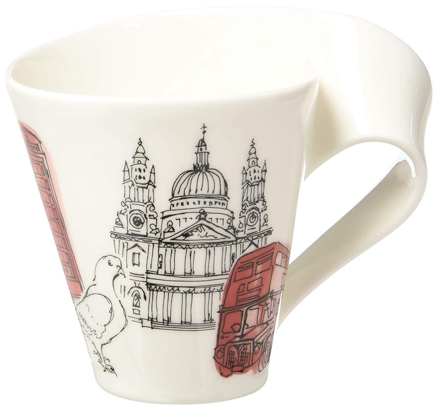 New Wave Caffé Cities of the World Mug London By Villeroy & Boch - Premium Porcelain - Made in Germany - Dishwasher and Microwave Safe - Gift Boxed - 11.75 Ounce Capacity