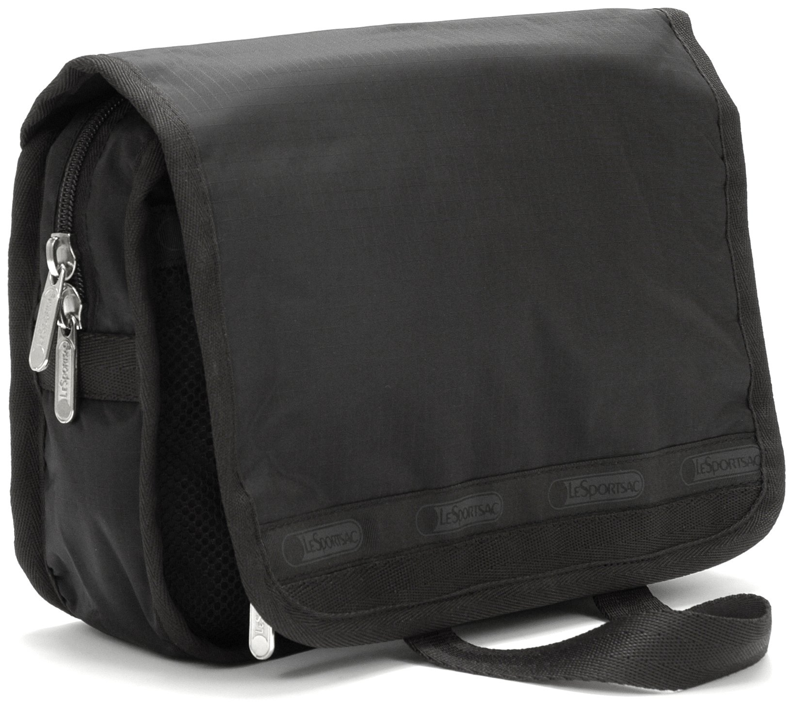 LeSportsac Handle Style Cosmetic Case,Black,One Size by LeSportsac