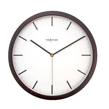 NEXTIME Company Wall Clock, Wood, Brown: Amazon co uk