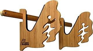 product image for Grassracks - The Boarder - Bamboo Snowboard Wall Rack for 1 Board