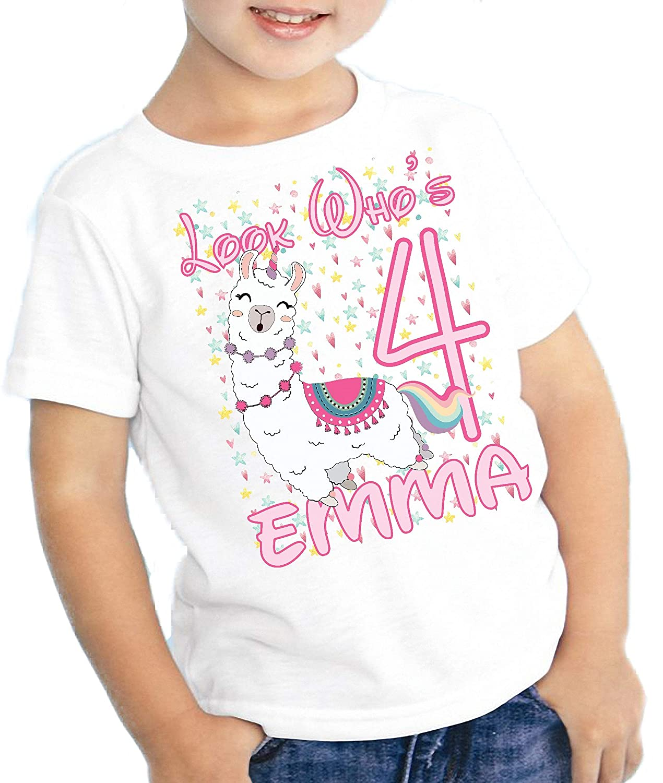 Amazon Com Girls Personalized Birthday T Shirt Unicorn Llama Hearts Name Age Look Whos Kids Youth Tee Custom Cute Handmade,2018 Grand Design Solitude 375res