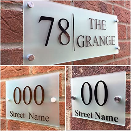 3c857bb62a3 Image Unavailable. Image not available for. Color  MODERN HOUSE SIGN PLAQUE DOOR  NUMBER ...