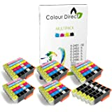 35 XL (5 Impostatos+5 Nero) Colour Direct Cartucce di inchiostro compatibili Sostituzione Per Epson Expression Foto XP-750 XP-850 XP-950 1 Impostato 24XL
