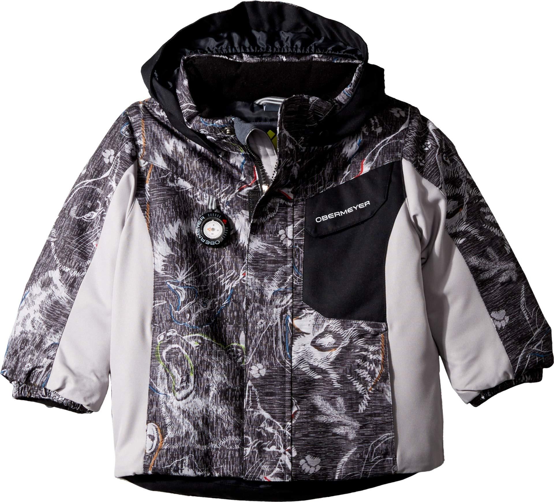 Obermeyer Kids Baby Boy's Galactic Jacket (Toddler/Little Kids/Big Kids) Howl Grey Print 4T