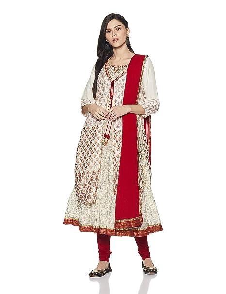 5da1100545f BIBA Women s Angrakha Salwar Suit Set  Amazon.in  Clothing   Accessories
