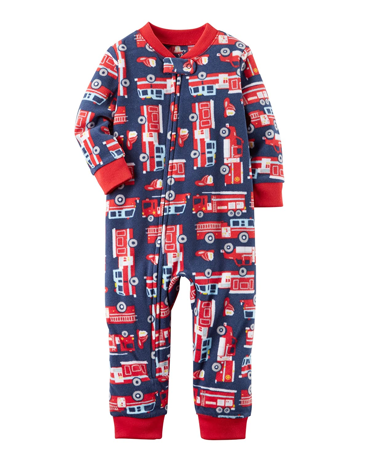 Carter's Baby Boys' 12M-24M One Piece Rocket Fleece Footless PJS