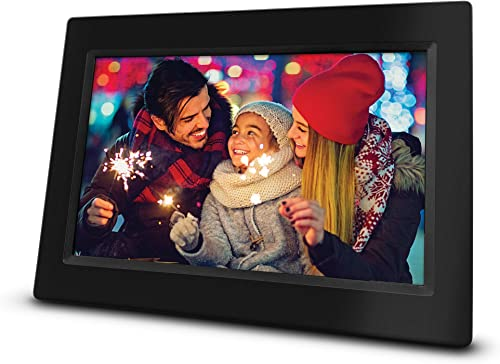 RCA 10 Wi-Fi Digital Photo Frame Photo and Video Playback, 8GB Internal Storage, Touch Screen, Slideshow Feature. Instantly Sharing Memories. Worldwide Connectivity.