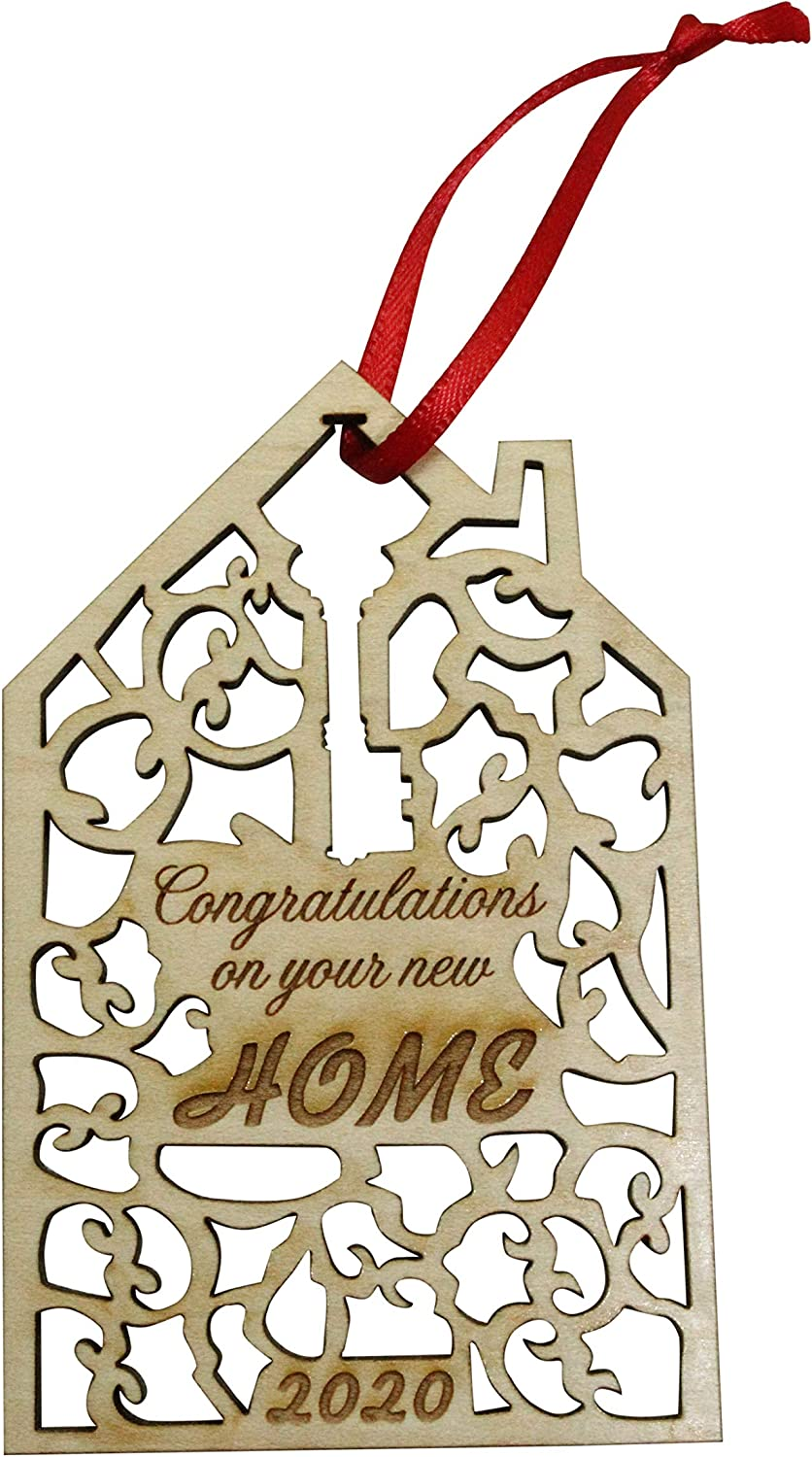 Twisted Anchor Trading Co 2020 Congratulations On Your New Home Ornament, Realtor Ornament New House Ornament Wood Laser Cut