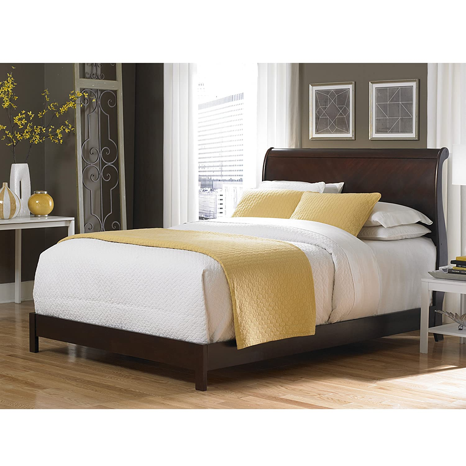 Amazoncom Bridgeport Complete Bed with Curved Sleigh