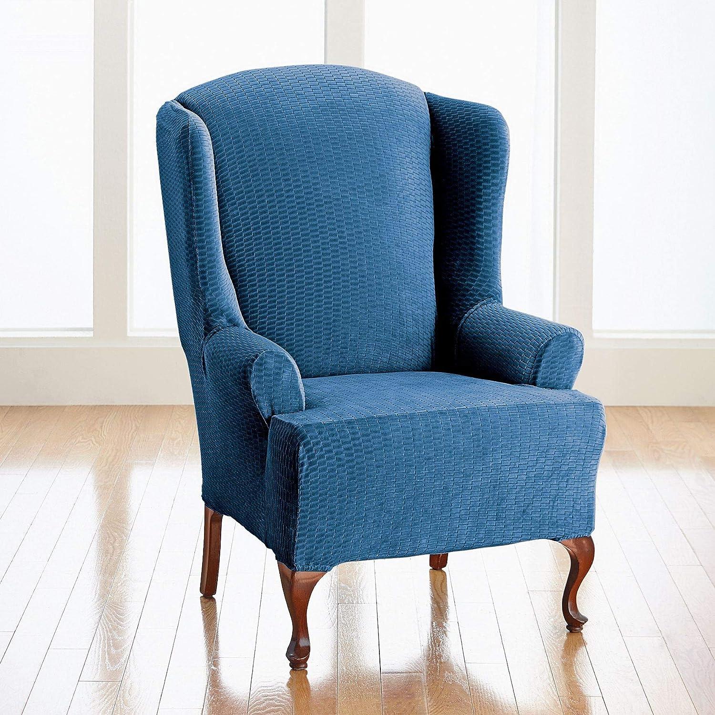Brylanehome BH StudioブライトンWing Chair Slipcover ブルー 19549870267mk0~0  ネイビー B07DF464BG