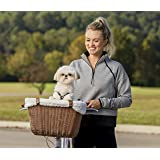 PetSafe Happy Ride Wicker Bicycle Basket for Dogs and Cats - Stylish Weather Resistant Wicker Material - Comfortable, Easy to