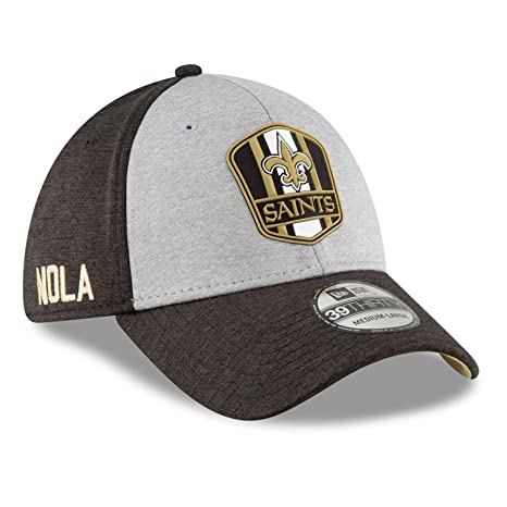Amazon.com   New Era New Orleans Saints 2018 NFL On Field Road 39THIRTY Cap  - Large X-Large   Sports   Outdoors 4571eeba1f