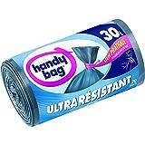Handy Bag, 3557880353018, Sacchetti per la spazzatura con maniglie scorrevoli e lacci di chiusura ultra resistenti, 30 L, 50 x 70 cm, 2 x 20 pz.