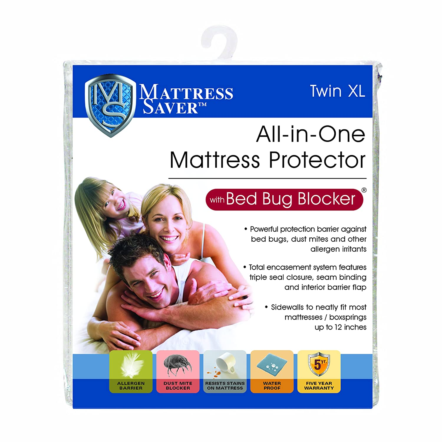 Mattress Saver All In One Mattress Protector With Bed Bug Blocker Total  Encasement Protection From Allergen