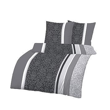 Bettwäsche 200 X 200cm Baumwolle 3teilig Bettwäsche Grau Weiß