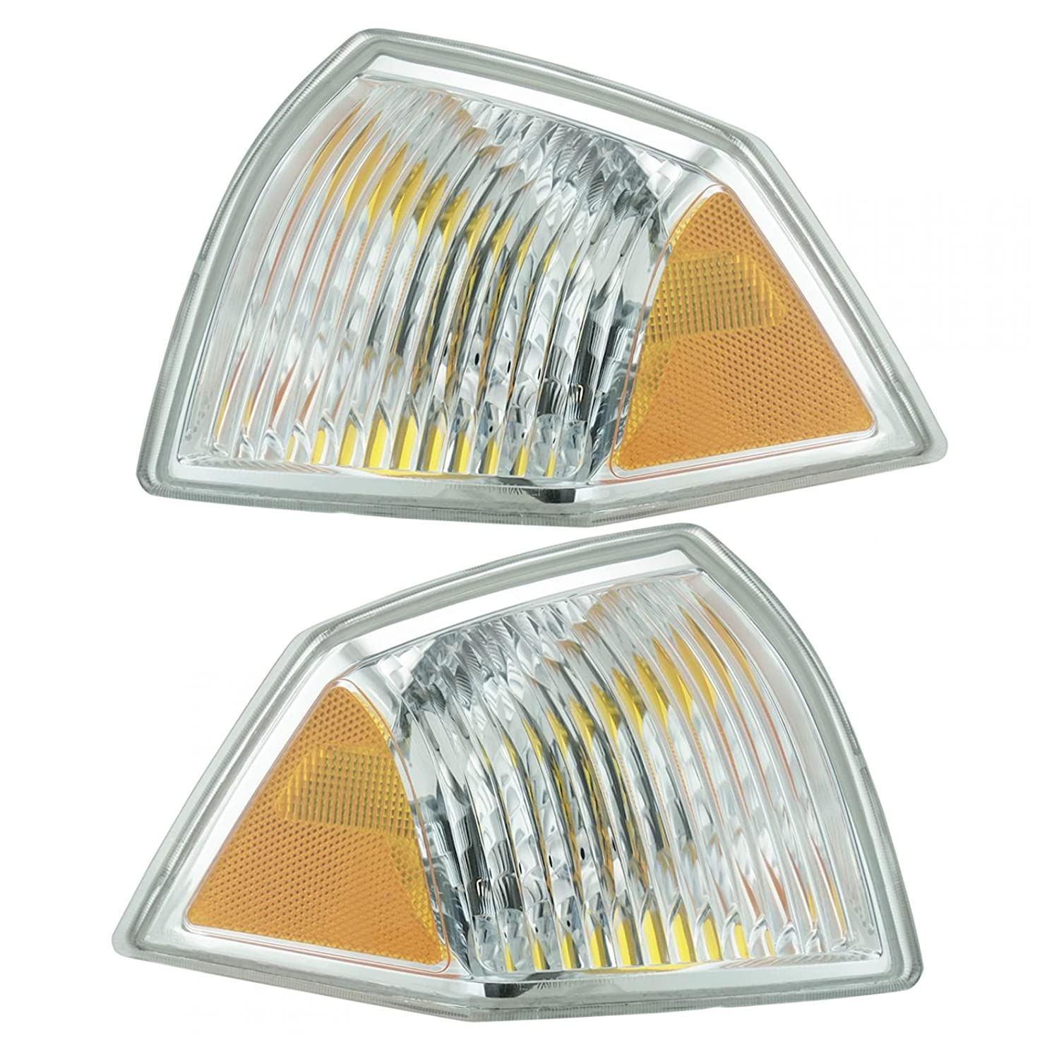 Front Marker Signal Blinker Corner Parking Light Pair Set for 07-10 Jeep Compass AM Autoparts