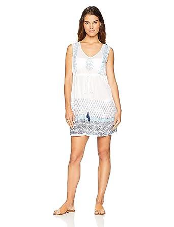 1cf7277d47264b Amazon.com: Wild Oasis Beachwear Women's V-Neck Sleeveless Tank Dress/ Coverup: Clothing
