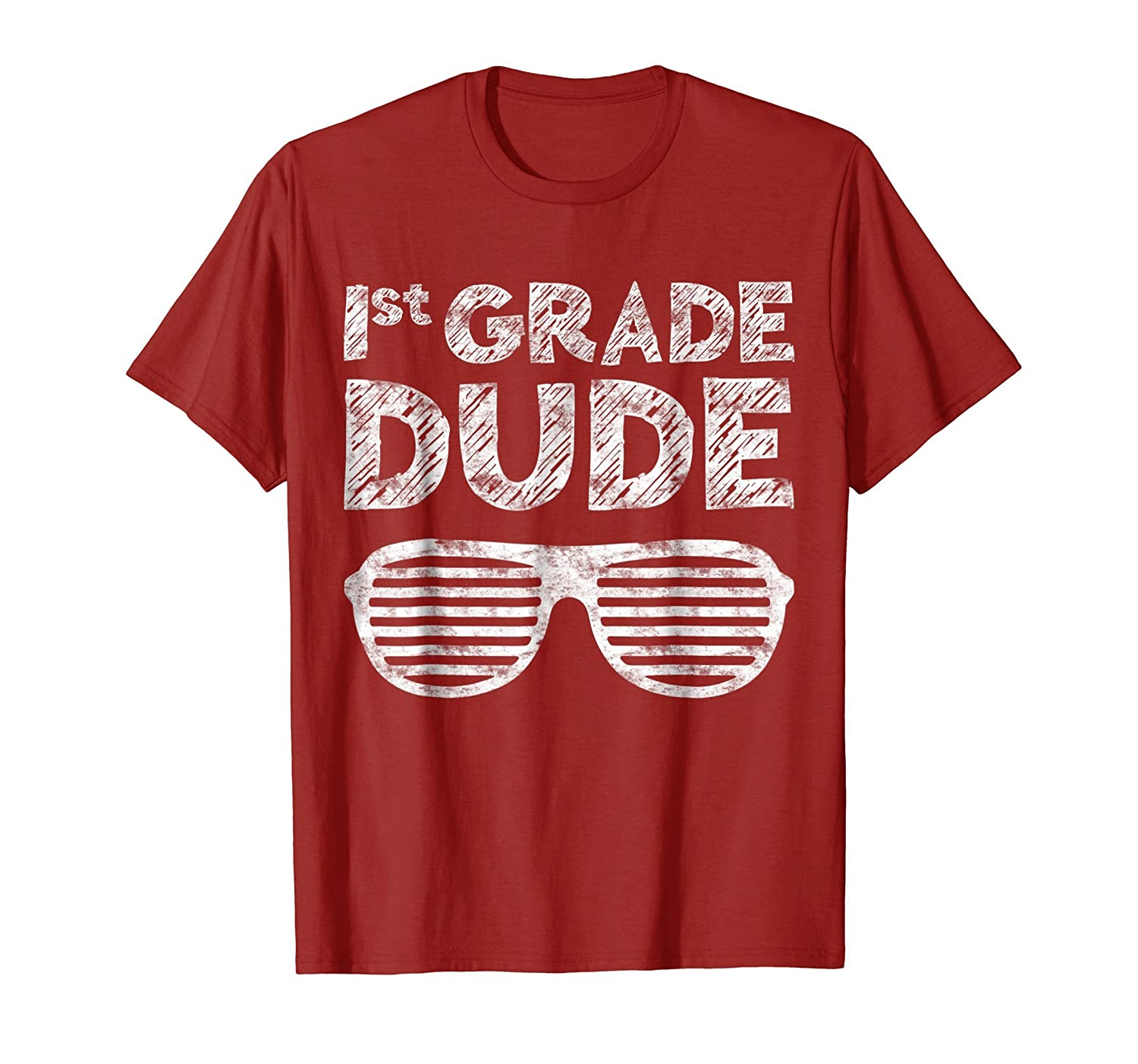 1st Grade Dude T-Shirt Funny First Grade Back To School Gift-mt