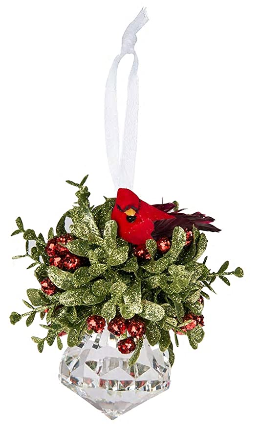 "Mistletoe Ball Decor Kiss Red Green Large Door Hanging Christmas 5/"" Ornament"