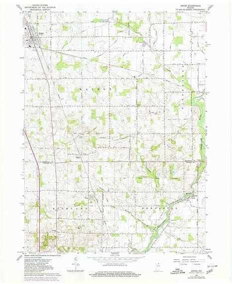 Amazon Com Yellowmaps Argos In Topo Map 1 24000 Scale