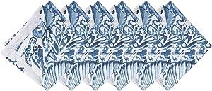 C&F Home Blue Coast Shells Indigo Blue & White Reversible Coral 20