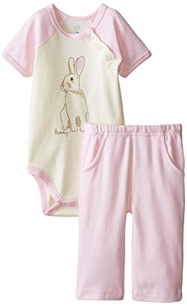 Amazon Com Touched By Nature Baby Organic Cotton Bodysuit And Pant