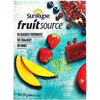 Sunrype Fruit Source - 100% Fruit Bar, 30 Count, 3 Flavours (Net Weight 1.11 KG)