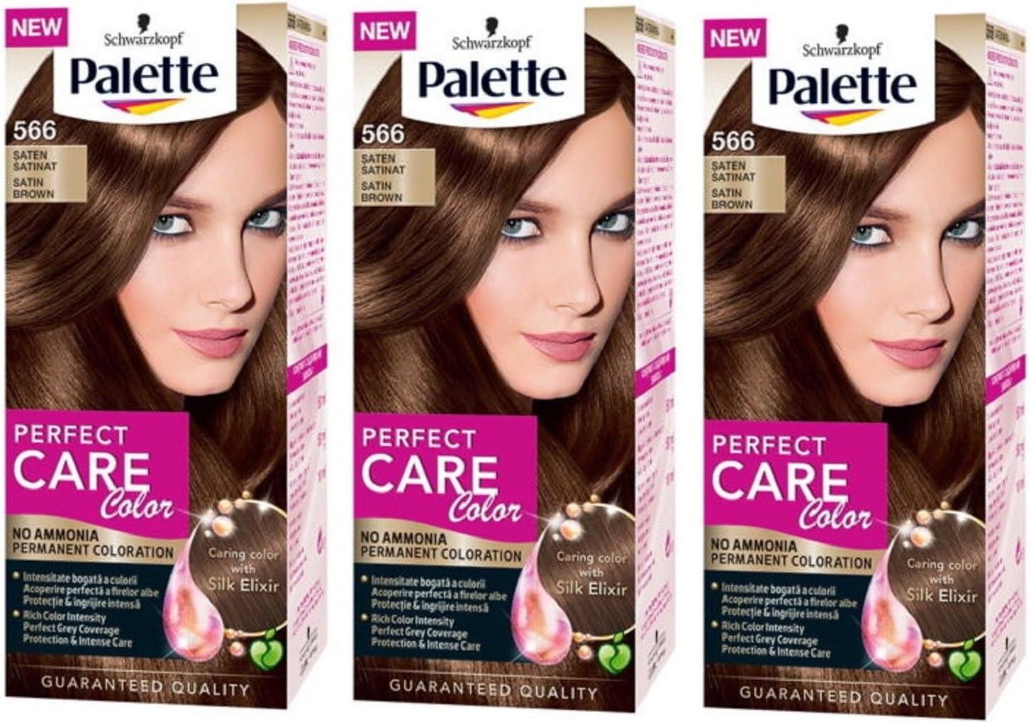 Schwarzkopf Palette 566 - Tinte permanente para el pelo (3 ...
