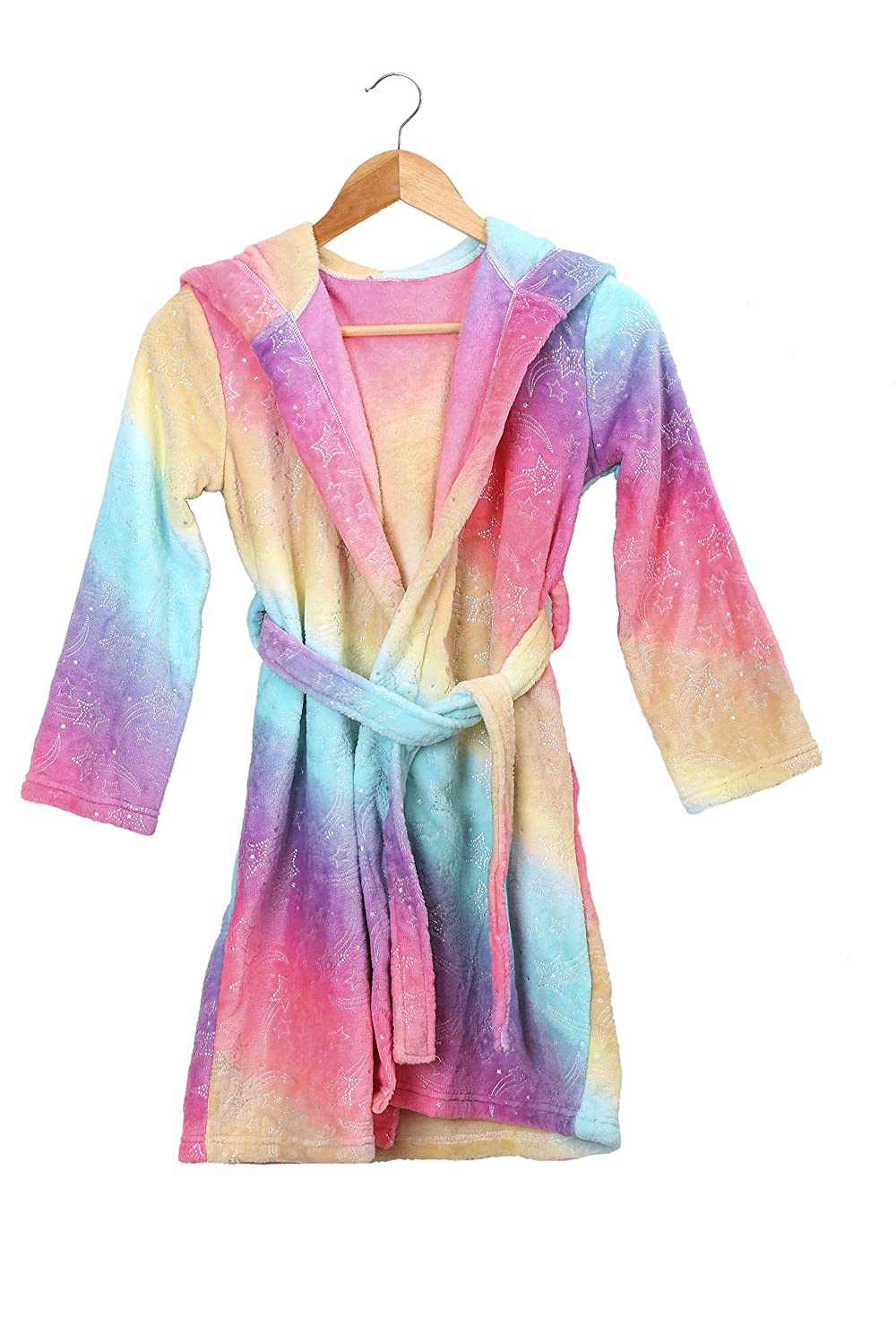 Kids Girls Mermaid Fleece Bathrobe Robe for Tween Girls