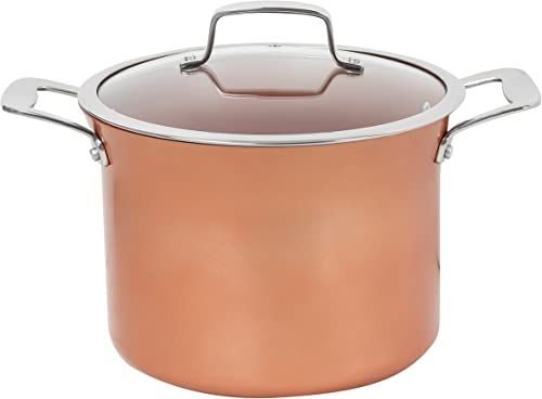 Concord 7 QT Copper Non-Stick Stock Pot