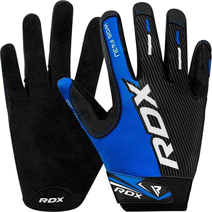 Great Grip for Fitness Bodybuilding Strength Training Cycling /& Exercise RDX Weight Lifting Gloves for Gym Workout Anti Slip Palm Protection Leather Long Wrist Strap Powerlifting