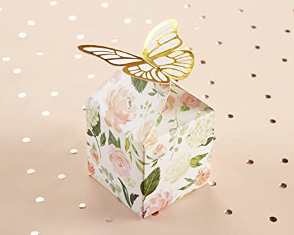 kate aspen butterfly floral favor box gift box perfect favors for bridal shower