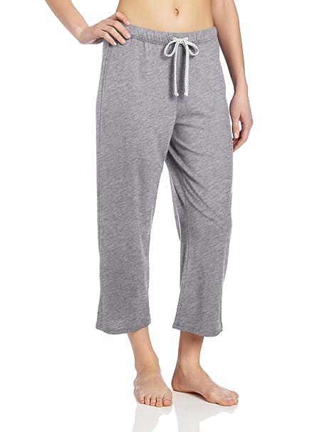 Nautica pijamas Jersey de punto de las mujeres Capri – Pantalones para hombre - Gris -