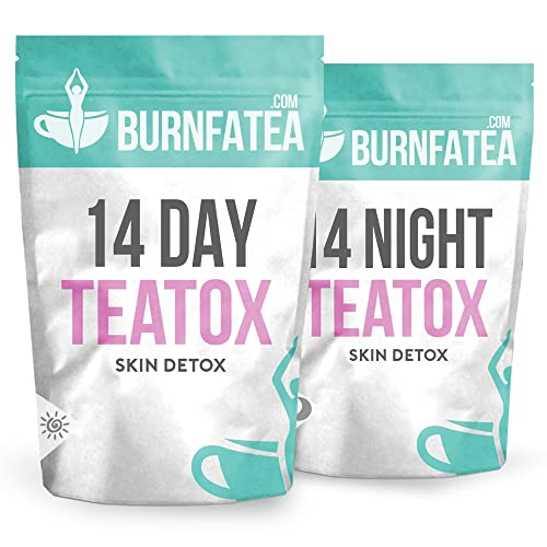 Burnfatea Teatox 14 Day Skin Detox, Clear Skin & Weight Loss - LAXATIVE FREE (Day & Night Set)