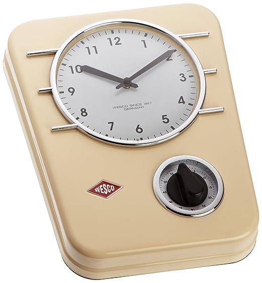 2 opinioni per Wesco 322 401-23 Orologio da cucina Classic Line, colore: Mandorla