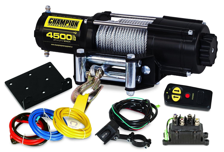 amazon com champion 4500 lb atv utv wireless winch kit automotive rh amazon com Warn Winch Remote Wiring Diagram 8274 Warn Winch Wiring Diagram