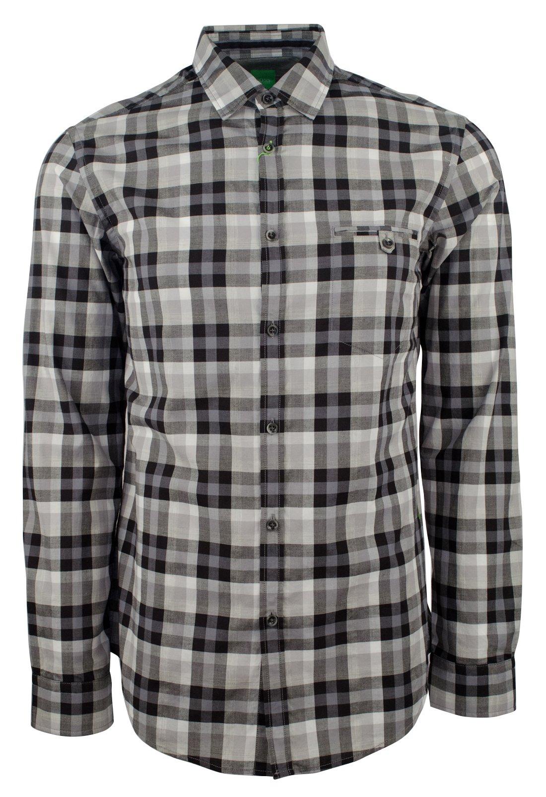 Hugo Boss Men's Green Label Blumas Slim-Fit Checked Sportshirt-BG-M