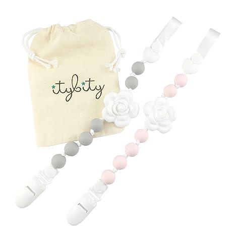 Itybity Clip de chupete - Mordedor de silicona para bebé Sin ...