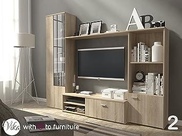 Superieur HUGO TV Unit Wall Unit Living Room Furniture (Oak Sonoma)