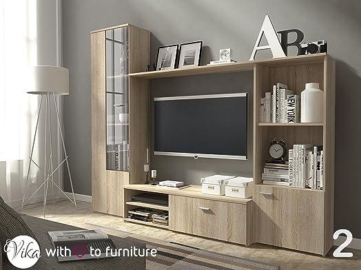 TV Unit HUGO . Wall Unit Living Room Furniture (Oak Sonoma ) Part 19