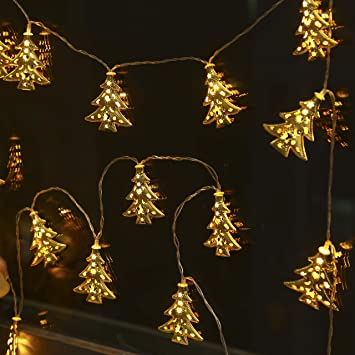 BUSOH Led Christmas Tree Lights [ 6.56 FT 20 LED ] Gold Metal Vine Lantern  String - Amazon.com: BUSOH Led Christmas Tree Lights [ 6.56 FT 20 LED ] Gold
