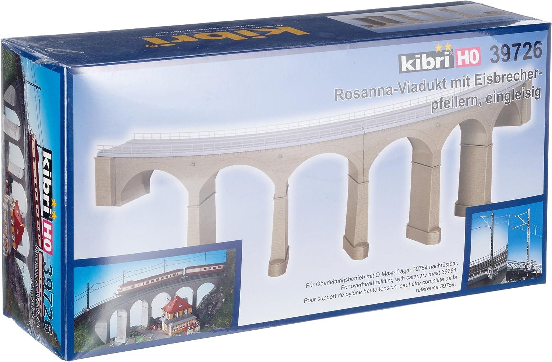 kibri 39726 H0 Rosanna-Viadukt mit Eisbrecherpfeilern gebogen eingleisig