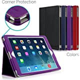iPad Air Case, [CORNER PROTECTION] CaseCrown Bold Standby Pro (Purple) with Sleep / Wake, Hand Grip, Corner Protection, & Multi-Angle Viewing Stand (Compatible w/ New iPad 2017 model)