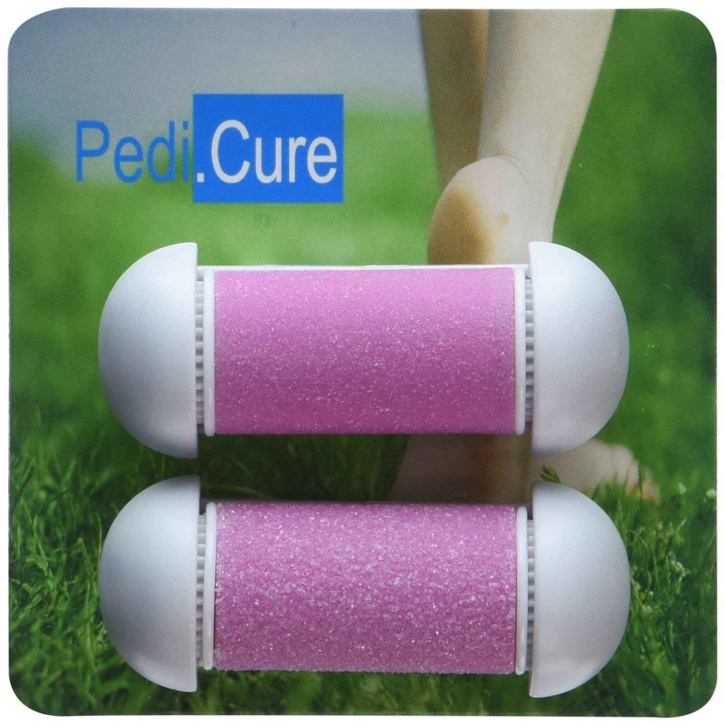 Replacement Rollers - 2-Pack Refill Roller Heads for Pedi.Cure Solutions, HOLIDAY DALE! Best Callus/Dead Skin Remover, Professional Pedicure Foot File Tool, Pumice Roller, Satisfaction Guaranteed