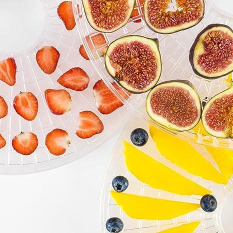 Klarstein Fruitower D Deshidratador Automatico de Alimentos • Secador Vegetales, Setas, Carnes y Frutas • 35-70ºC • Temporizador • 200 240 W • Acero ...