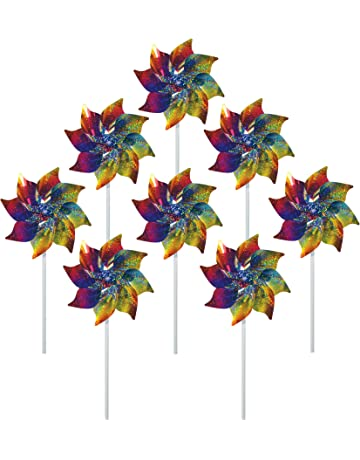 506bbed0dac In the Breeze Best Selling Rainbow Whirl Pinwheel - Bright Blended Rainbow  Design - Mylar Material