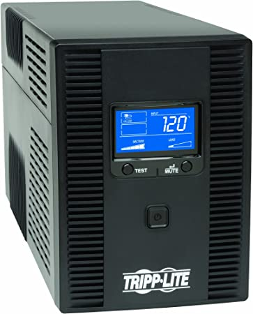 Tel /& Coax Protection 120V SMART1500LCDT USB Line-Interactive LCD Display Tripp Lite 1500VA 900W UPS Battery Back Up AVR 10 Outlets