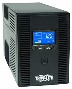 Tripp Lite 1500VA 900W UPS Battery Back Up, AVR, LCD Display, Line-Interactive, 10 Outlets, 120V, USB, Tel & Coax Protection (SMART1500LCDT)